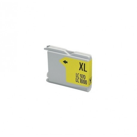 Non-OEM Yellow Ink Cartridge for Brother LC1000Y