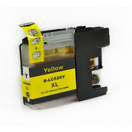 Non-OEM Yellow Ink Cartridge for Brother LC525Y