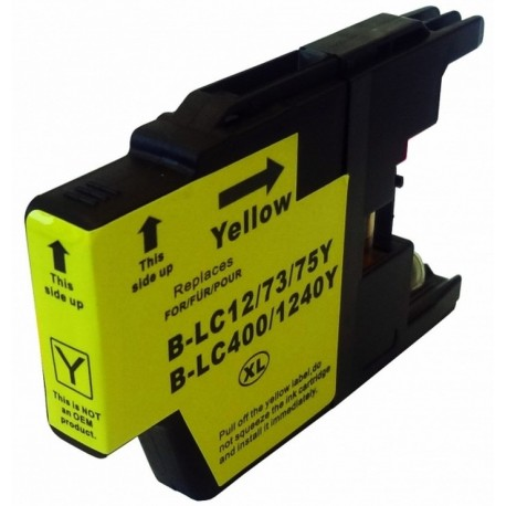 Non-OEM Yellow Ink Cartridge for Brother LC1240Y