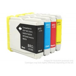 Full Set of Non-OEM Ink Cartridges for Brother LC1000