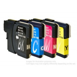 Full Set of Non-OEM Ink Cartridges for Brother LC1100
