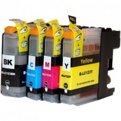 Full Set of Non-OEM Ink Cartridges for Brother LC123