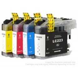 Full Set of Non-OEM Ink Cartridges for Brother LC223