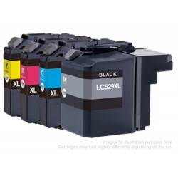 Full Set of Non-OEM Ink Cartridges for Brother LC525/LC529