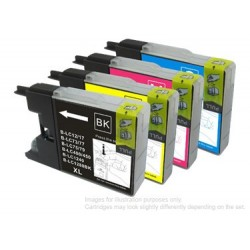 Full Set of Non-OEM Ink Cartridges for Brother LC1240