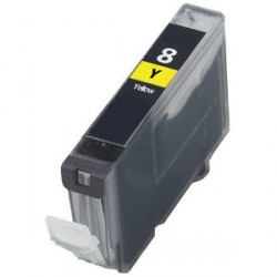 Non-OEM Yellow Ink Cartridge for CANON CLI-8Y