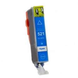 Non-OEM Cyan Ink Cartridge for CANON CLI-521C