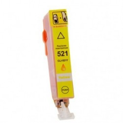 Non-OEM Yellow Ink Cartridge for CANON CLI-521Y