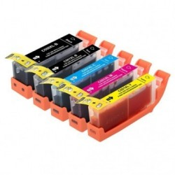 Full Colour Set of Non-OEM Ink Cartridges for CANON PGI-550/CLI-551