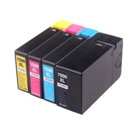 Full Colour Set of Non-OEM Ink Cartridges for CANON PGI-1500