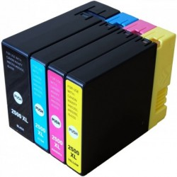 Full Colour Set of Non-OEM Ink Cartridges for CANON PGI-2500