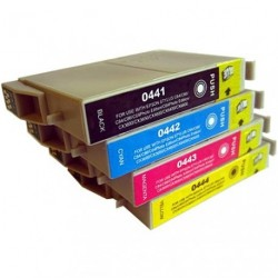 Full Set of Non-OEM Ink Cartridges for EPSON T0441-T0444