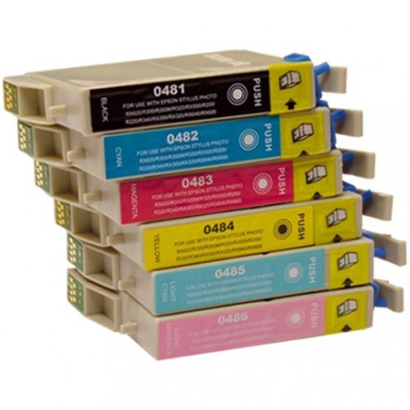 Full Set of Non-OEM Ink Cartridges for EPSON T0481-T0484
