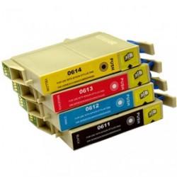 Full Set of Non-OEM Ink Cartridges for EPSON T0611-T0614