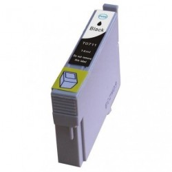 Non-OEM Black Ink Cartridge for EPSON T0711