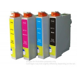 Full Set of Non-OEM Ink Cartridges for EPSON T0711-T0714