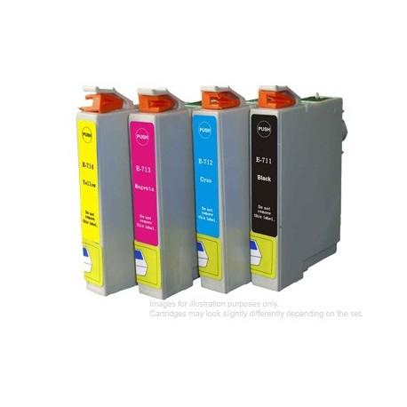 Full Set of Non-OEM Ink Cartridges for EPSON T0711-T0714