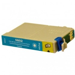 Non-OEM Cyan Ink Cartridge for EPSON T0802