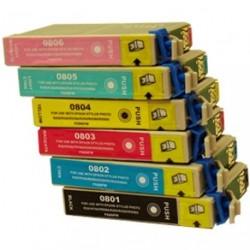 Full Set of Non-OEM Ink Cartridges for EPSON T0801-T0804