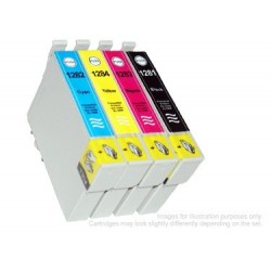 Full Set of Non-OEM Ink Cartridges for EPSON T1281-T1284