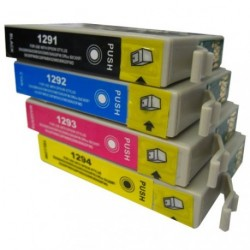 Full Set of Non-OEM Ink Cartridges for EPSON T1291-T1294