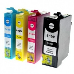 Full Set of Non-OEM Ink Cartridges for EPSON T1301-T1304