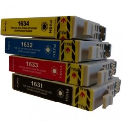 Full Set of Non-OEM Ink Cartridges for EPSON T1631-T1634