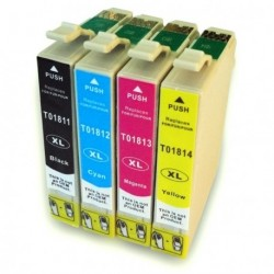 Full Set of Non-OEM Ink Cartridges for EPSON T1811-T1814