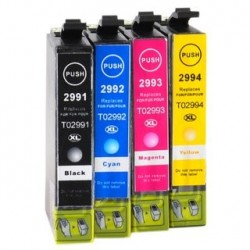 Full Set of Non-OEM Ink Cartridges for EPSON T2991-T2994