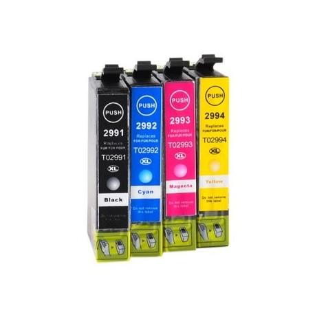 Full Set of Non-OEM Ink Cartridges for EPSON T2991-T2994