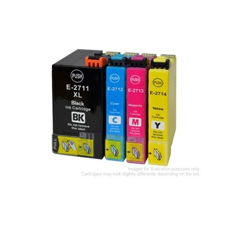 Full Set of Non-OEM Ink Cartridges for EPSON T2711-T2714