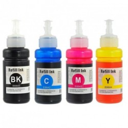 Full Set of Non-OEM Ink Bottles for EPSON T6641-T6644