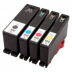 Full Set of Non-OEM Ink Cartridges for Lexmark 100XL