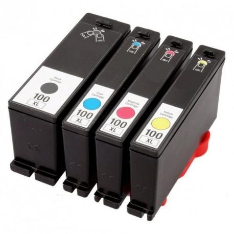 Full Set of Non-OEM Ink Cartridges for Lexmark 100XL
