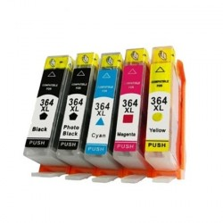 Full Set (with Photo Black) of Non-OEM Ink Cartridges for HP 364XL