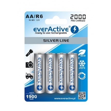 4 x Rechargeable Batteries EVERACTIVE AA (1900mAh)