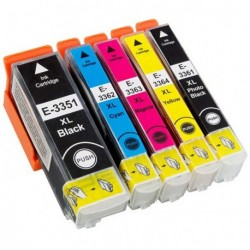 Full Set of Non-OEM Ink Cartridges for EPSON T3351-T3364