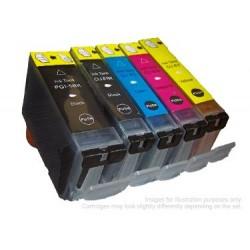 Full Colour Set of Non-OEM Ink Cartridges for CANON PGI-5/CLI-8
