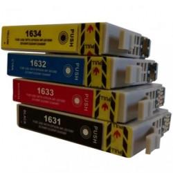 Full Set of Non-OEM Ink Cartridges for EPSON T1631-T1634