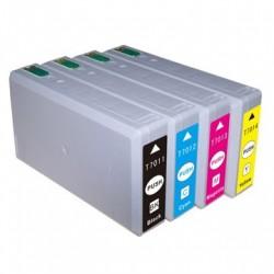 Full Set of Non-OEM Ink Cartridges for EPSON T7021-T7024